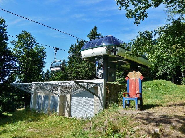 Buková hora - horní stanice lanovky z Mlýnického Dvora