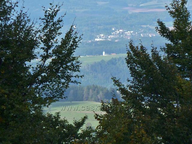 Buková hora - pohled z Čenkovické sjezdovky na Letohrad
