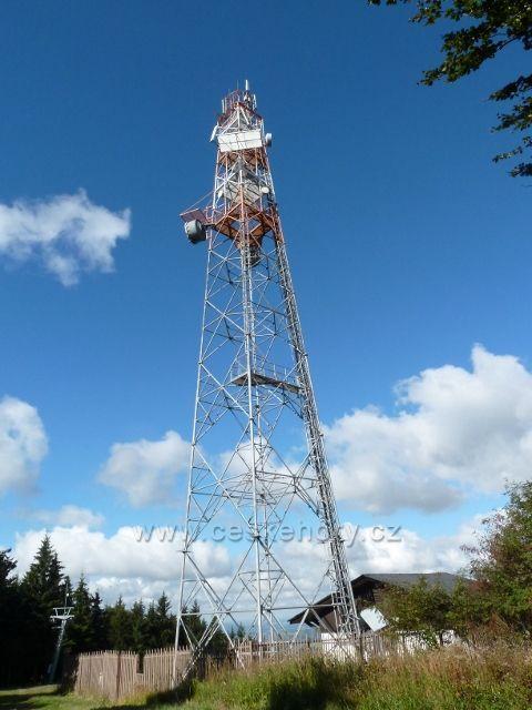 Buková hora - telekomunikační věž
