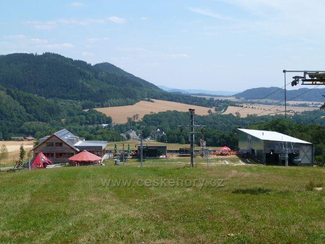 Buková hora - dolní stanice lanovky na Bukovou horu v Mlýnickém Dvoře