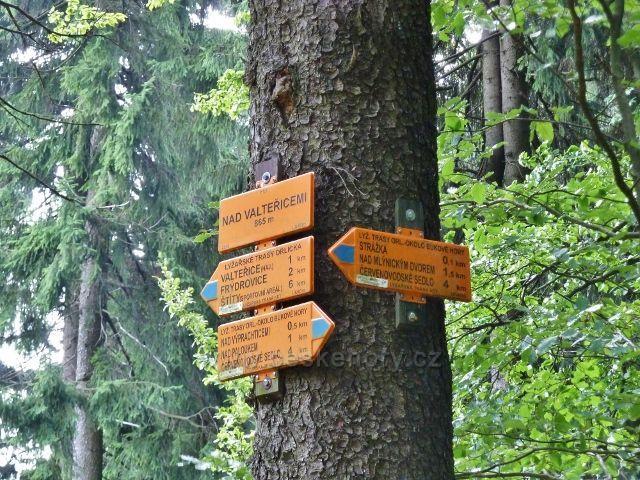 "Buková hora - turistický rozcestník ""Nad Valteřicemi"""
