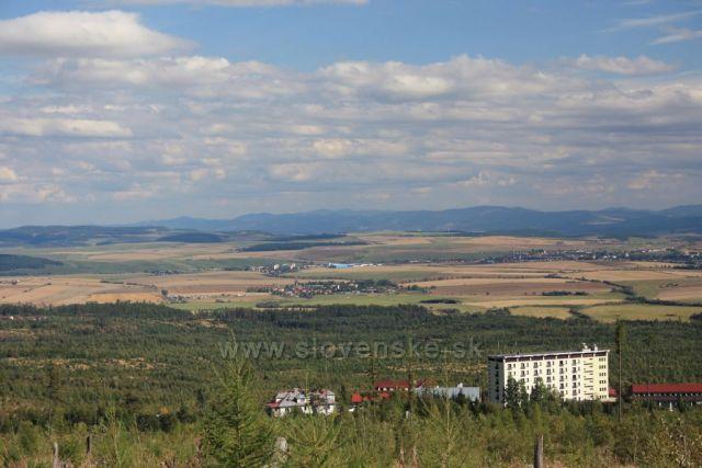 výhled nad Tatranskými Zrubami
