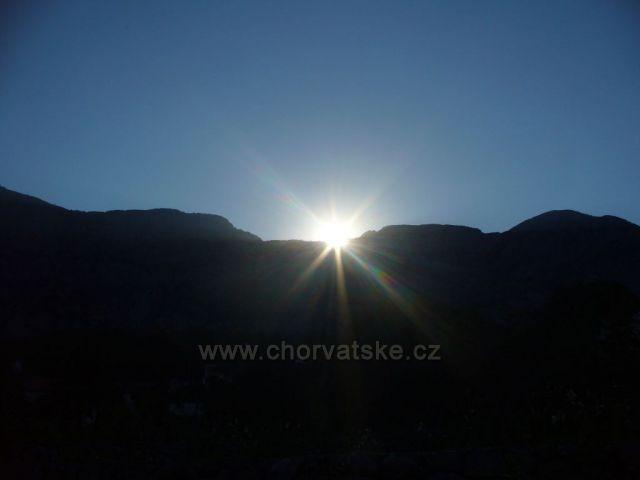 Biokovo - Staré Tučepi - východ slunce