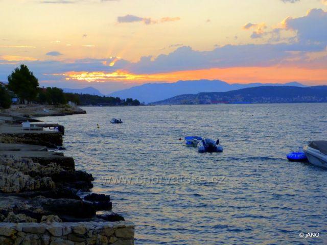 Východ slnka nad Trogirom