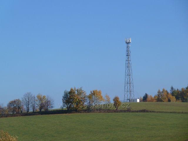 Písařov - telekomunikační věž na Hřebínku /725 m.n.m./