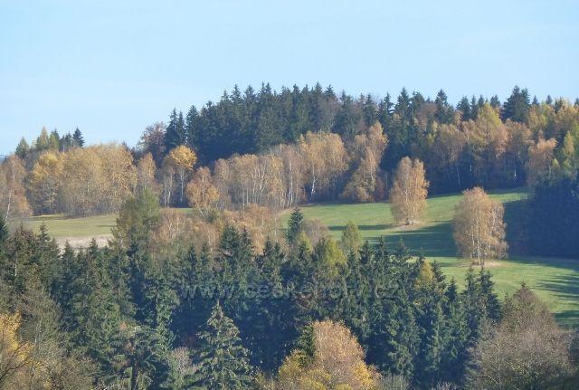 Habartice - pohled ze silničky na spodním okraji obce
