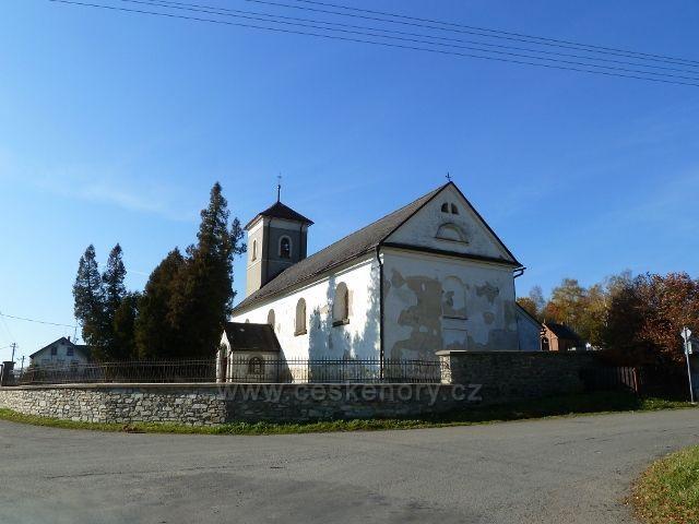 Habartice - kostel Neposkvrněného početí Panny Marie z přelomu 16.a17.století