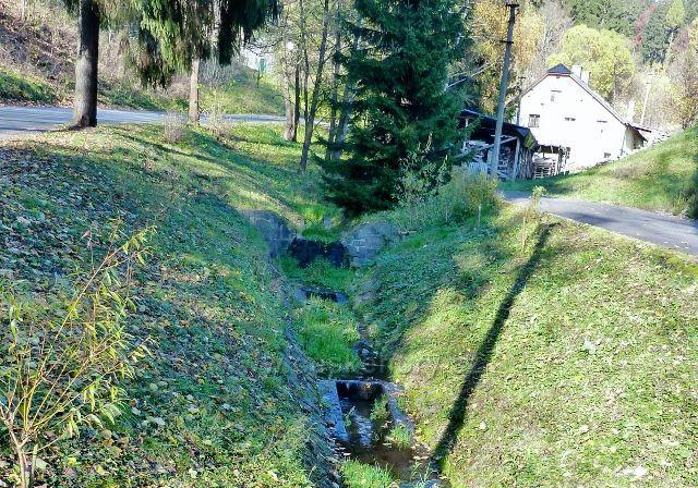 Hanušovice - regulace Hanušovického potoka v Údolní ulici