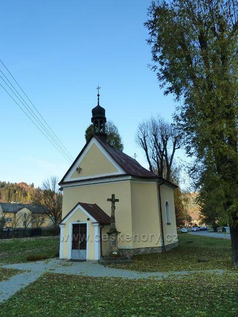 Hanušovice - barokní kaple Obětování Panny Marie z roku 1725