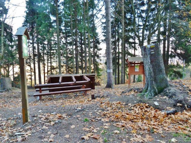 Dolní Morava - odpočívadlo na rozcestí Pod Klepáčem rozlámané letošní červencovou vichřicí