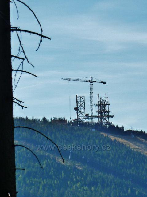 Dolní Morava - výstavba Stezky v oblacích