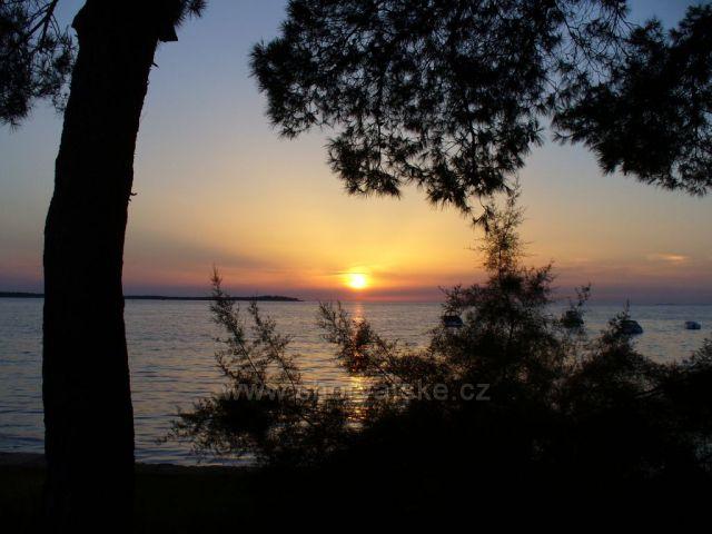 Barbariga-západ slunce
