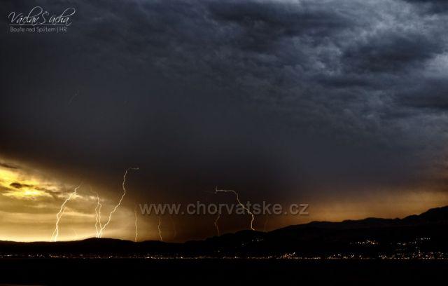 Bouře nad Splitem