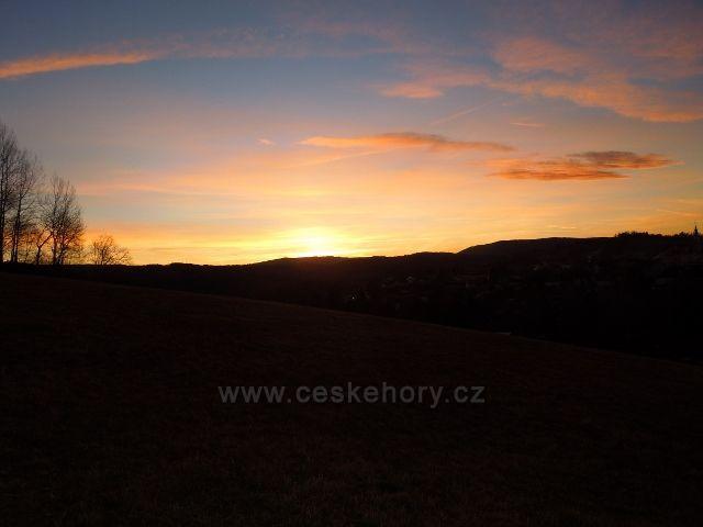 Kašperské hory - západ slunce