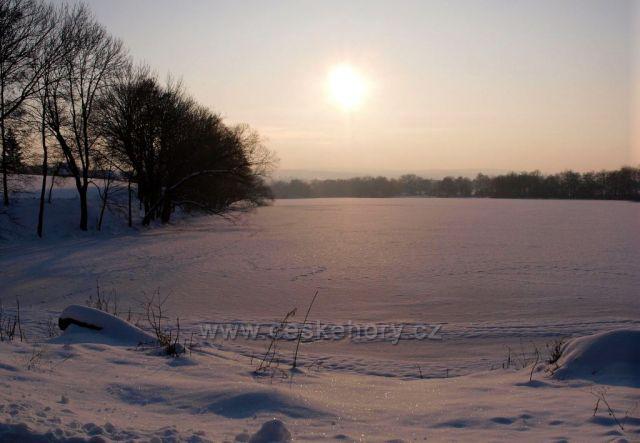 Zimní slunce nad Havlovickými rybníky