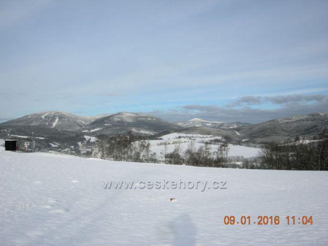 Pohled na východní Krkonoše