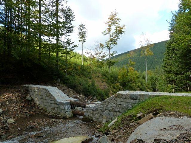 Branná - pohled od 4.poldru na Jelením potoce do údolí Klepáčského potoka