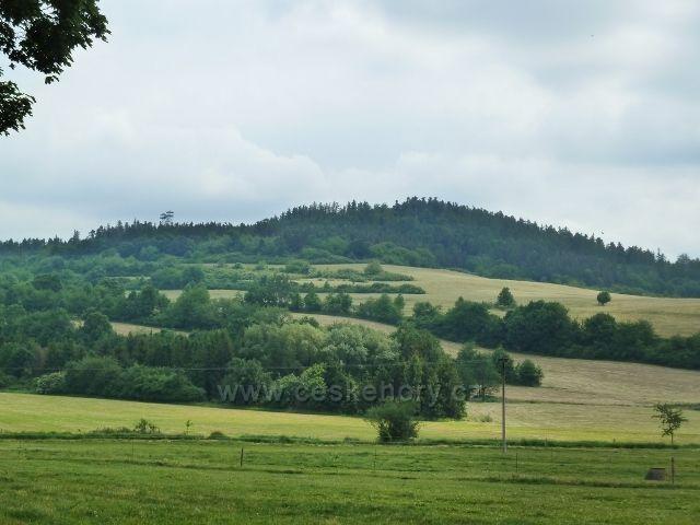 Město Albrechtice - pohled na Hraniční vrch