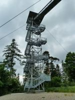 Město Albrechtice - výstupová část rozhledny na Hraničním vrchu