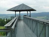 Město Albrechtice - spojovací lávka na rozhledně Hraniční vrch