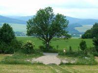 Město Albrechtice - parkoviště u Osoblažské silničky na odbočce k rozhledně Hraniční vrch