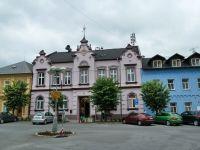 Město Albrechtice - budova radnice, sídlu MÚ