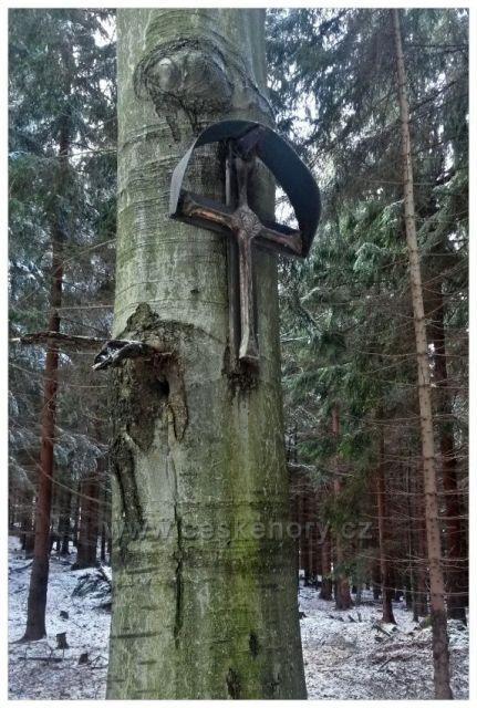 kříž na Scheibe