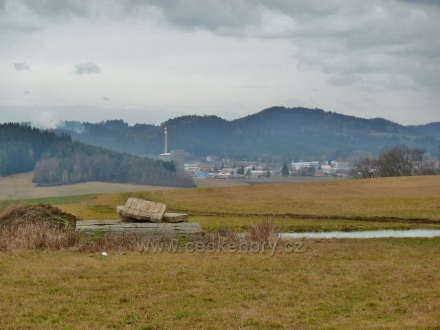 Lukavice - pohled z letiště k Žamberku