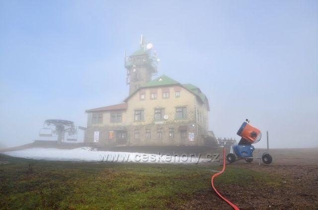 Tanvaldský Špičák a rozmary letošní zimy.