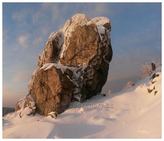 Skála Krejčík - horolezecký terén