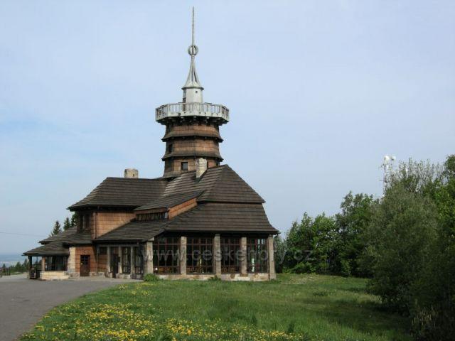 Jiráskova chata s rozhlednou na Dobrošově u Náchoda