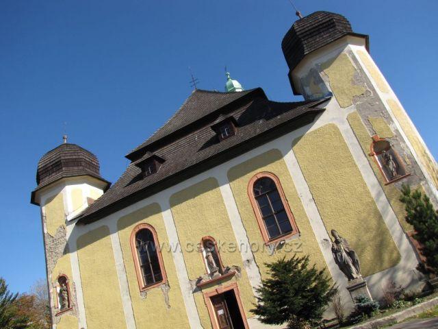 kostel sv. Vavřince v Horní Blatné, Krušné hory