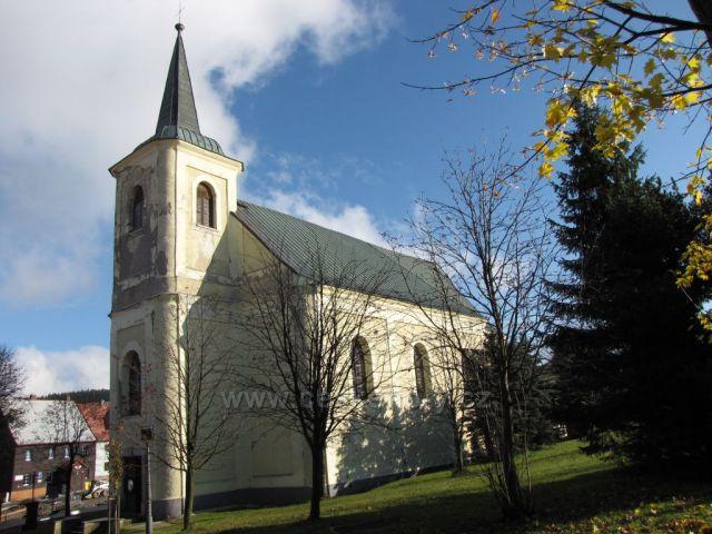 barokní kostel sv. Anny na Božím Daru, Krušné hory
