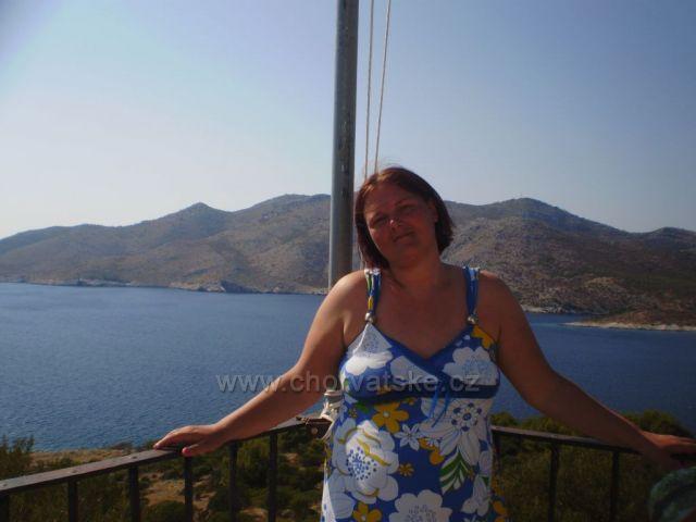 Výhľad z majáku Struga -Lastovo