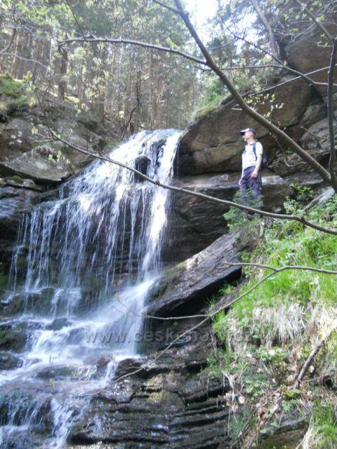 bezejmenný vodopád pod Keprníkem