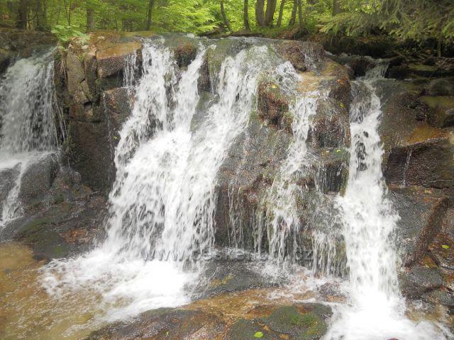 Poniklý vodopád nad Koutami nad Desnou
