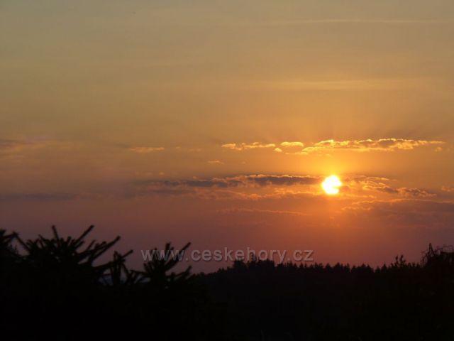 Východ slunce na Vysočině