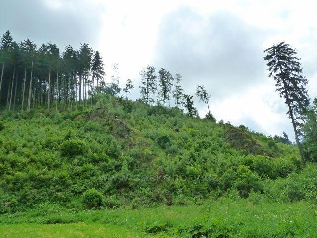 Hamernice - skalnatý svah údolí