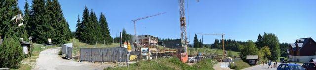 Horní Mísečky- výstavba nových objektů - v srpnu 2016