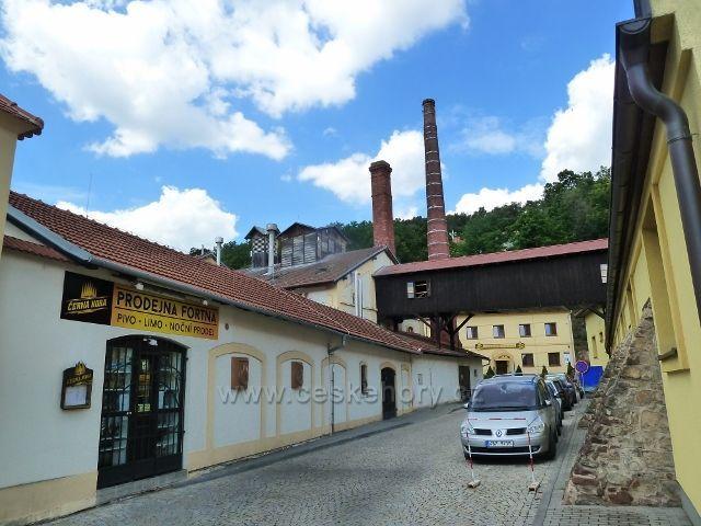 Černá Hora - boční pohled na pivovar