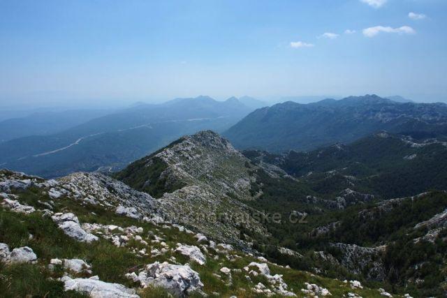 Pohoří Biokovo z vrcholu sv. Jure