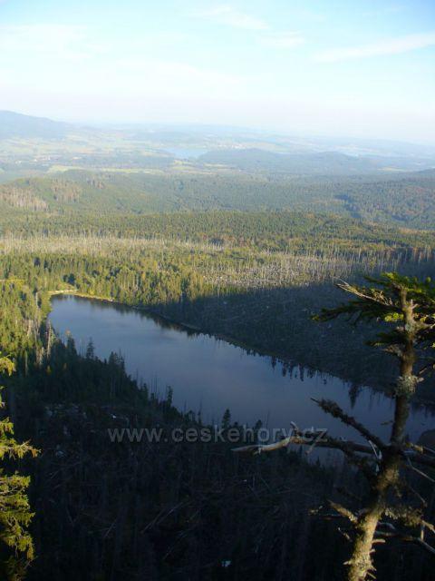 Plešné jezero a Lipno