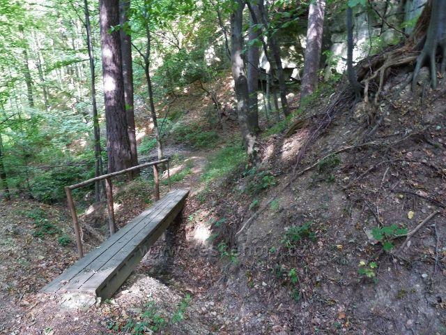 Lanšperk -mostek na stezce od Havlíčkovo studánky na Kopaninu