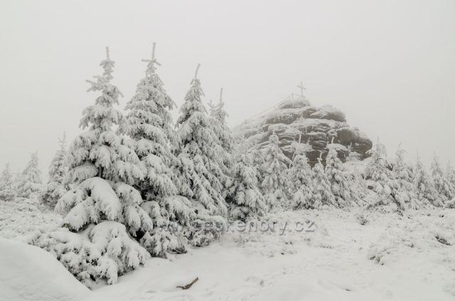 Jizera - druhá nejvyšší hora Jizerek 1122m - 12.11.2016.