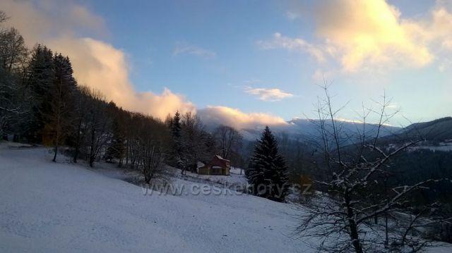 První sníh na Labské
