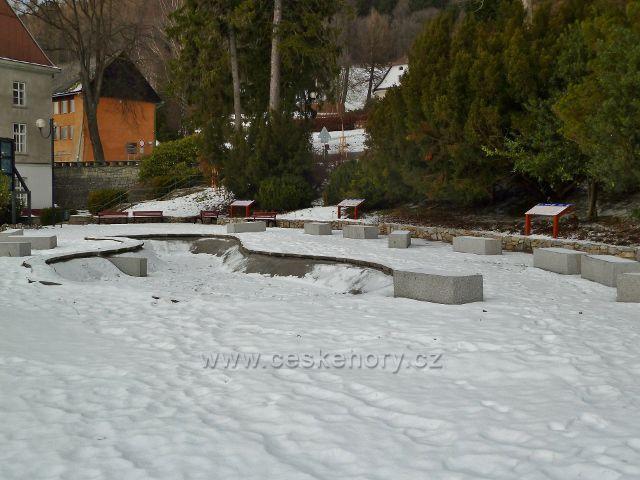 Lázně Jeseník - Jezírko pod sněhem