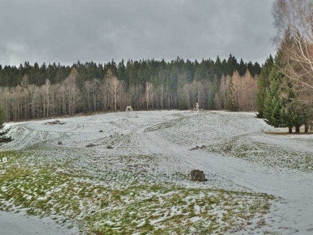 Lázně Jeseník - Jižní svah s Cestou života od sochaře Jana Šimka