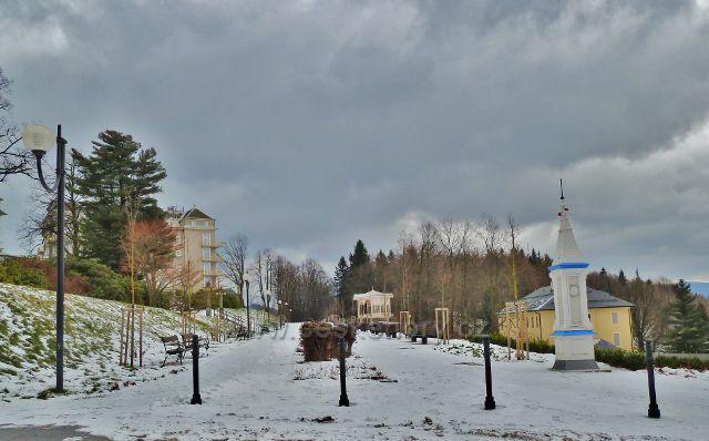 Lázně Jeseník - korzo v zimně