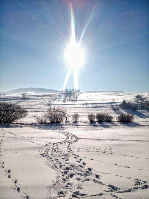 Silvestrovské slunce.