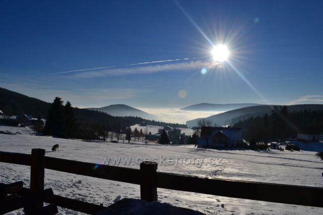 Výhled od Moravské Boudy na Malé Úpě